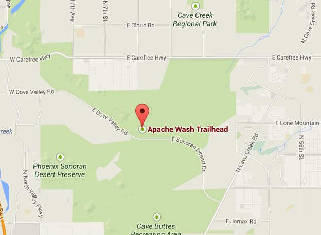 Sonoran Desert Preserve Apache Wash Trailhead 1600 E. Sonoran ... on